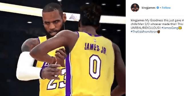 連LeBron都按讚!粉絲用《NBA 2K18》製作詹皇父子雙人搭檔影片 🏀
