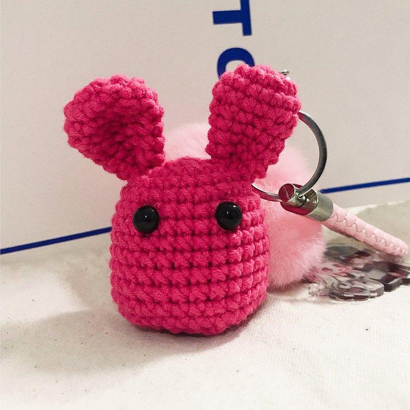 手工編織可愛勿怪鑰匙扣掛件 尺寸約8cm高 皮繩顏色隨機 由於手工問題,可能會與圖片稍微有點點差別,請知悉。