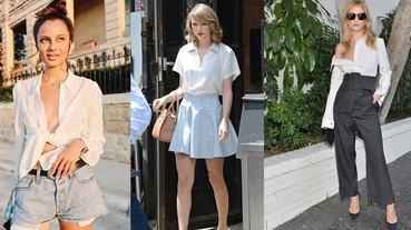 解鎖白襯衫的N種穿法,多買幾件承包你一週七天的時尚LOOK