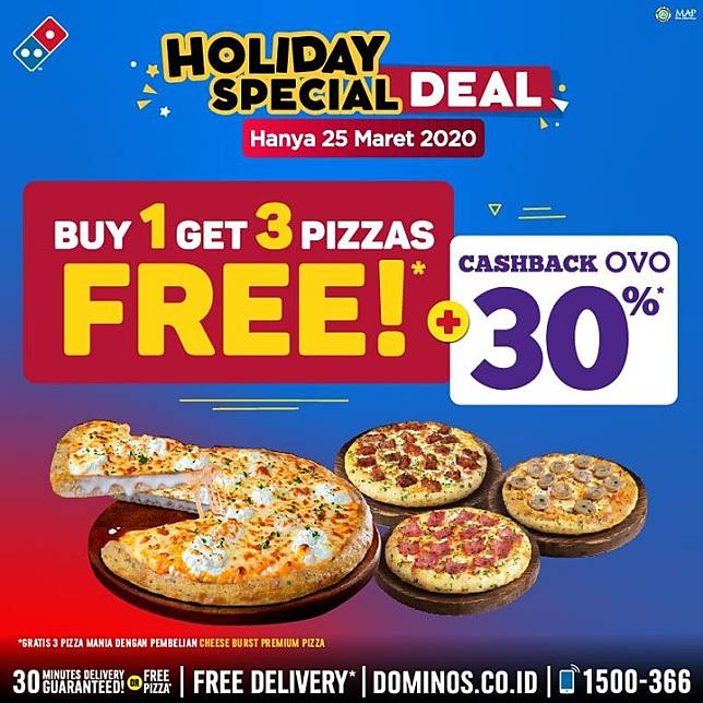 Domino S Pizza Promo Buy 1 Get 3 Pizzas Free Domino S Pizza Line Today