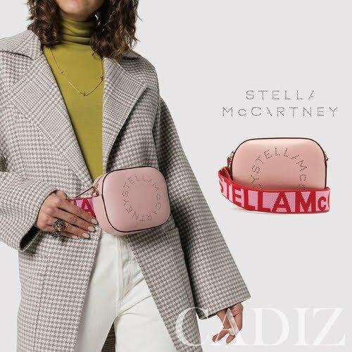 預購 英國正品 Stella McCartney Logo strap crossbody bag 粉色 LOGO個性肩背腰包