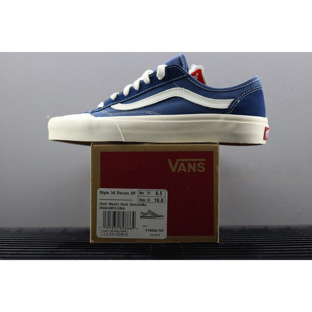 【日本海外代購】Vans Style 36 Decon SF 短頭 藍白 海軍藍 VNOA3MVLUBA 男女