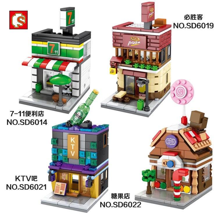 室內場景積木迷你街景套裝大小顆粒兒童拼裝玩具肯德ツ基麥當勞6-12