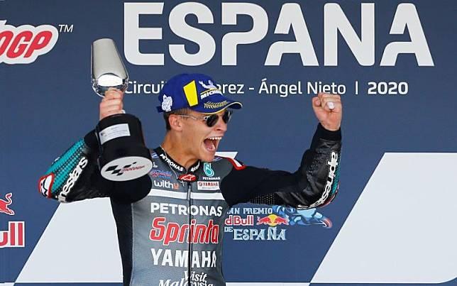 Fabio Quartararo juara Moto GP 2020 di Jerez, Spanyol./Antara