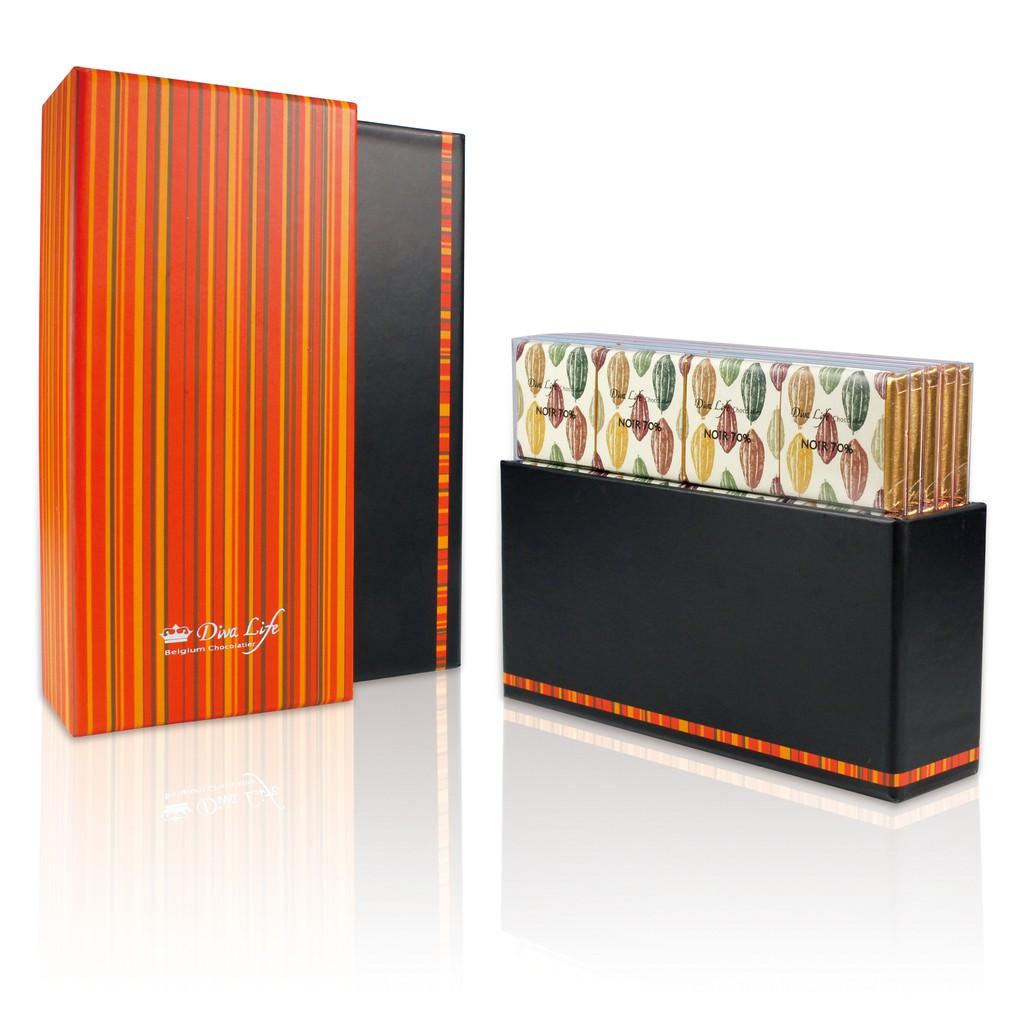 【Diva Life】比利時風味純巧克力禮盒 (比利時巧克力片40入)