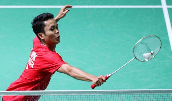 Tunggal putra Indonesia Anthony Sinisuka Ginting
