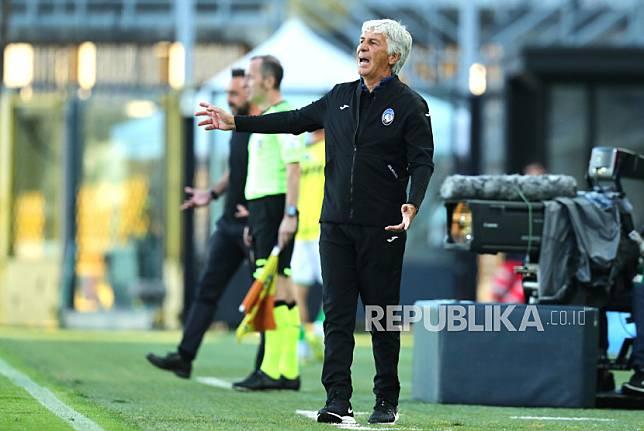 Pelatih Atalanta Gian Piero Gasperini.