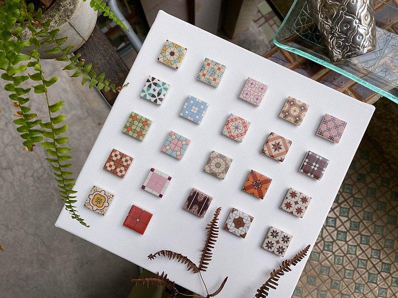 | 復古花磚系列 | 瓷磚磁鐵 - 4入 /共22款