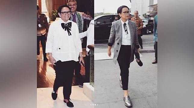 Retno Marsudi setelah menjalani tantangan 8 bulan hidup sehat. (Instagram @retno_marsudi)