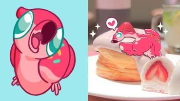 超療癒貼圖「甜甜圈鶴」登場 網友:「有種獵奇的萌感」