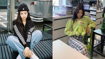 小熊連帽圍巾穿上立刻引起暴動!「人間香奈兒」Jennie的3種私服穿搭風格示範