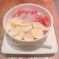 イチゴバナナ豆花 - 実際訪問したユーザーが直接撮影して投稿した西新宿カフェ騒豆花 新宿ミロード店の写真のメニュー情報