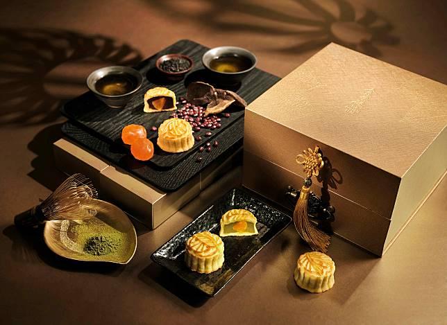 陳皮紅豆及香濃黑芝麻口味迷你月餅