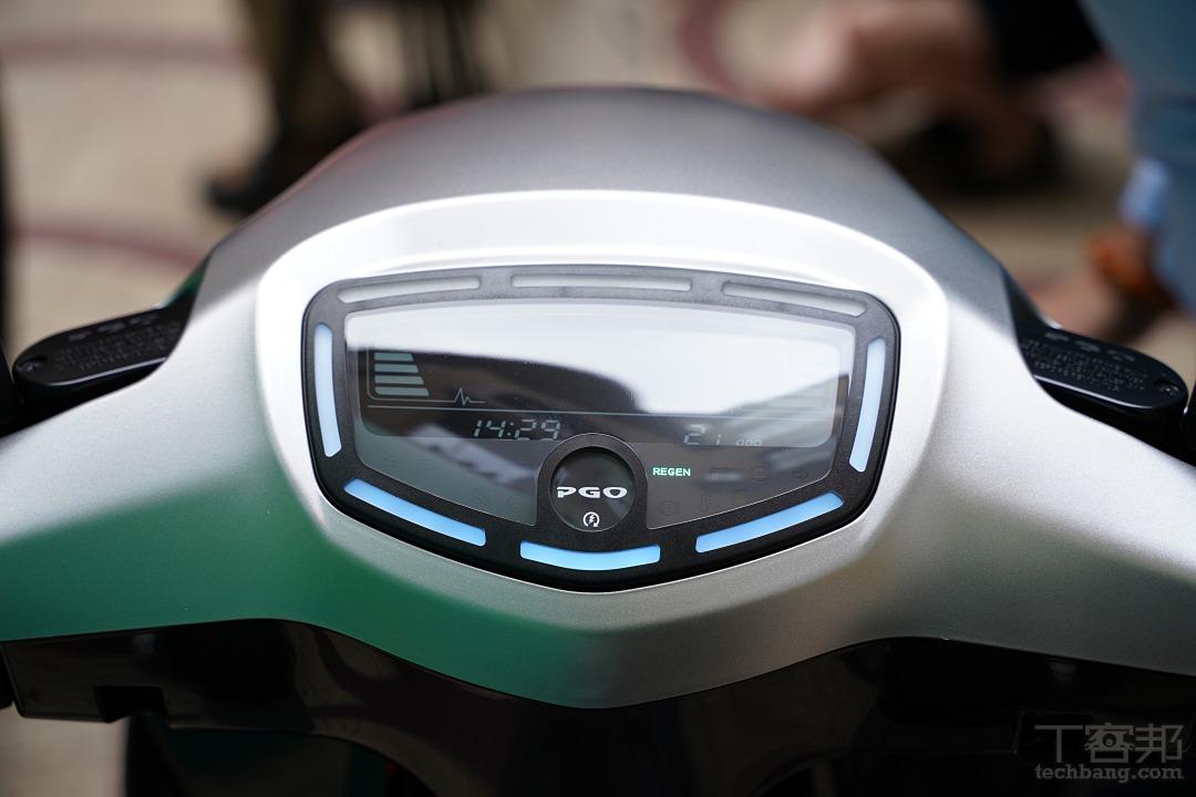 全新設計的儀表,造型較為俐落。
