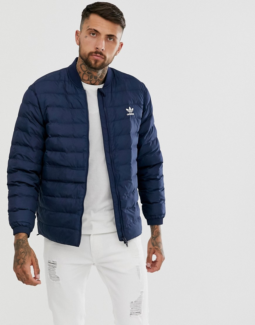 Jacket by adidas Originals Ideal for layering Baseball collar Zip fastening Padded for extra warmth