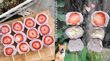 台中超夯團購「真心芋泥球」!滿滿綿密芋泥+新鮮草莓,芋泥控直接被融化~