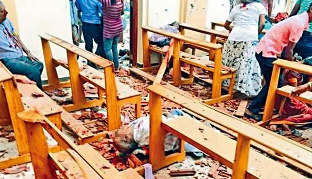 ■聖塞巴斯蒂安教堂爆炸時禮堂坐滿信眾,多人走避不及慘死當場及重傷。
