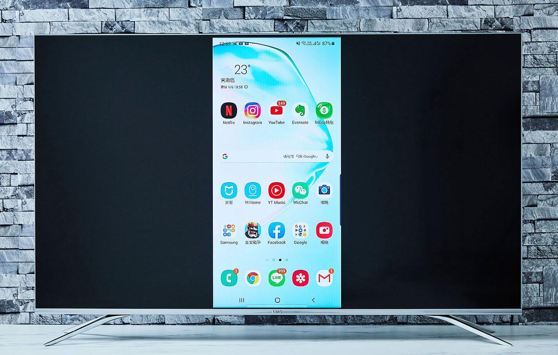 只需簡單一個動作就能讓手機畫面「零時差」顯示在電視螢幕上,而且顯示的畫面內容與手機端的操作呈現完全同步的狀態,沒有任何一絲延遲。