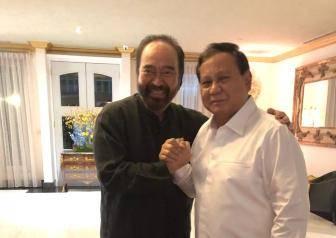 Pertemuan  Ketua Umum Partai Nasdem Surya Paloh (kiri) dan Ketua Umum Partai Gerindra Prabowo Subianto. Foto: Dokumentasi DPP NasDem