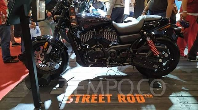 Harley-Davidson Street Rod berkapasitas 750cc ini dijual Rp 310 juta di GIIAS 2019. Harga normal Rp 404 juta. 21 Juli 2019. TEMPO/Wawan Priyanto