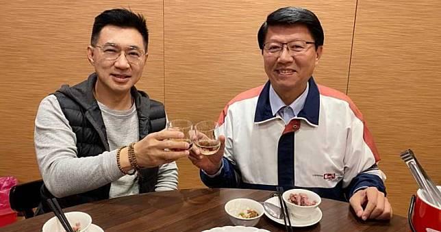 江啟臣與謝龍介餐敘 期待當立院同事引熱議
