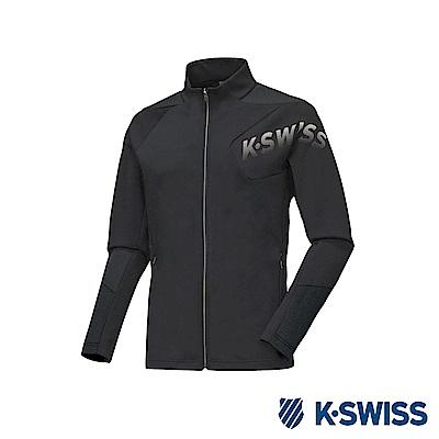 K-SWISS Jersey Jacket 韓版運動外套-男-黑