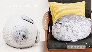 日本海遊館「圓滾滾海豹」變成抱枕啦!爆紅的YUKI、Arale仿真版抱枕,圓嘟嘟模樣一推出就引發熱議!