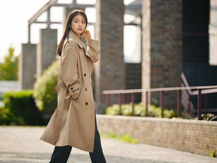 女裝 寬版風衣外套