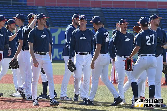 ▲世界棒球12強美國隊。(圖/記者葉政勳攝 , 2019.11.1