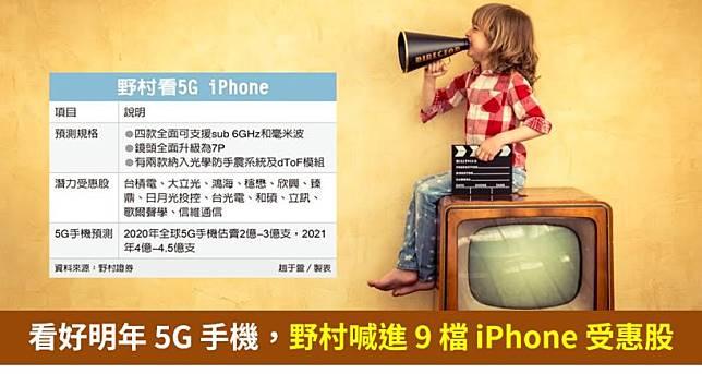 【籌碼K晨報】預測明年 5G 手機可賣 2 億支,野村喊進 9 檔 5G iPhone 潛力受惠股