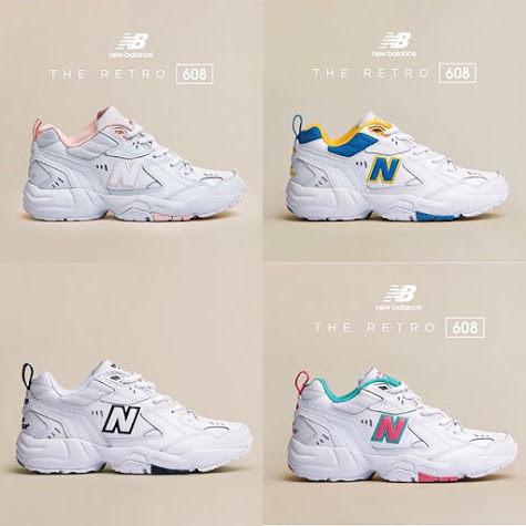 ISNEAKERS New Balance 608 NB 全白 白綠粉 白粉 復古 老爹鞋 韓國 IU 代言款