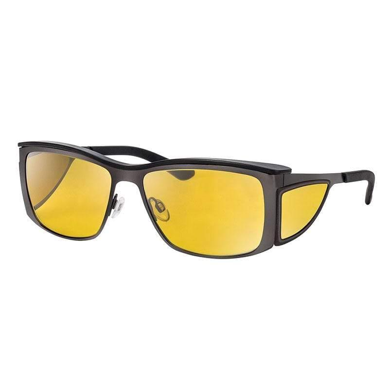 wellnessPROTECT Sport 德國製高防護包覆式濾藍光眼鏡 金屬框 65%黃色 金屬大框 無煙煤 (59□16-135)
