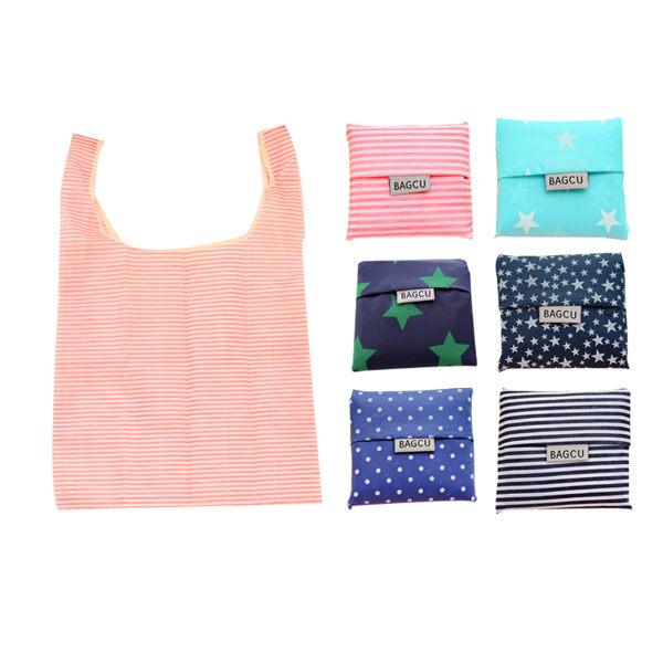韓系輕巧折疊購物袋(六款隨機混發) ◆86小舖 ◆