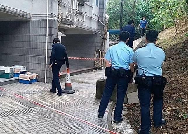 警員封鎖現場調查。