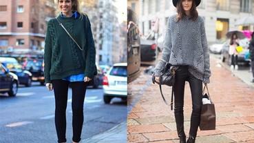 冬天不穿外套也沒有問題!擺脫外套的溫暖又有型穿搭法!