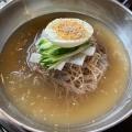 水冷麺 - 実際訪問したユーザーが直接撮影して投稿した百人町韓国料理ヨプの王豚塩焼×マイマイチキン 日本一号店の写真のメニュー情報