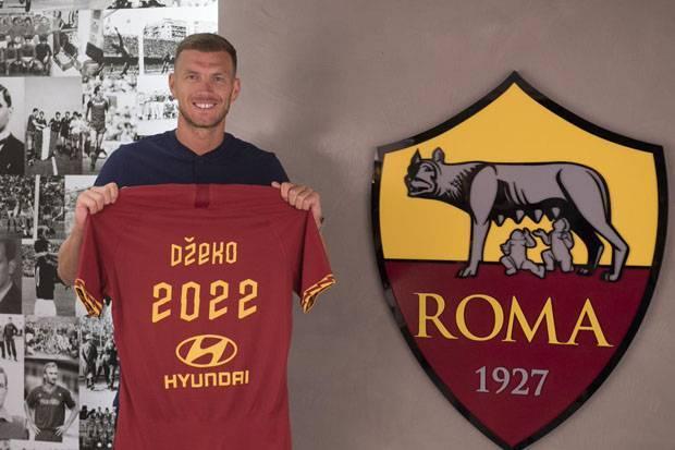 Perpanjang Kontrak dengan Roma, Dzeko Rusak Efek Domino Bursa
