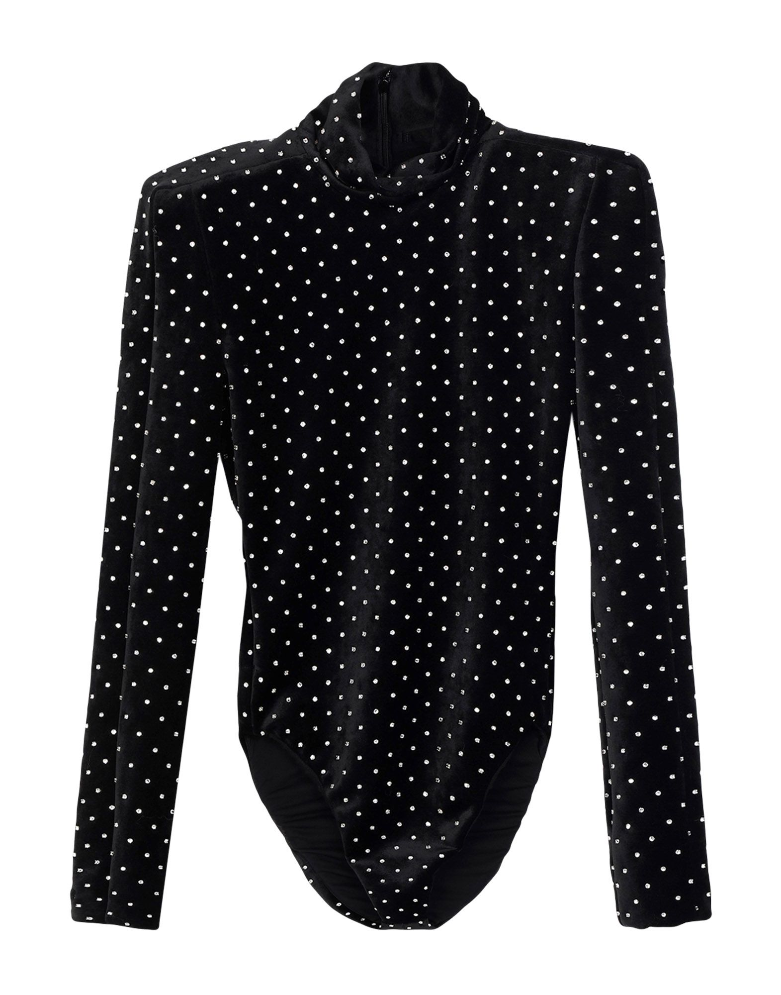 velvet, rhinestones, solid color, rear closure, zip, long sleeves, turtleneck, no pockets, crotch of