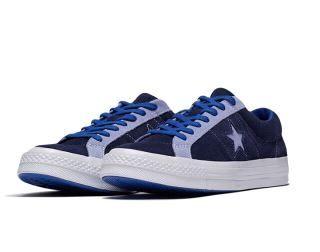 CONVERSE 低筒休閒鞋 中性鞋 帆布鞋 藍紫色 NO.161615C