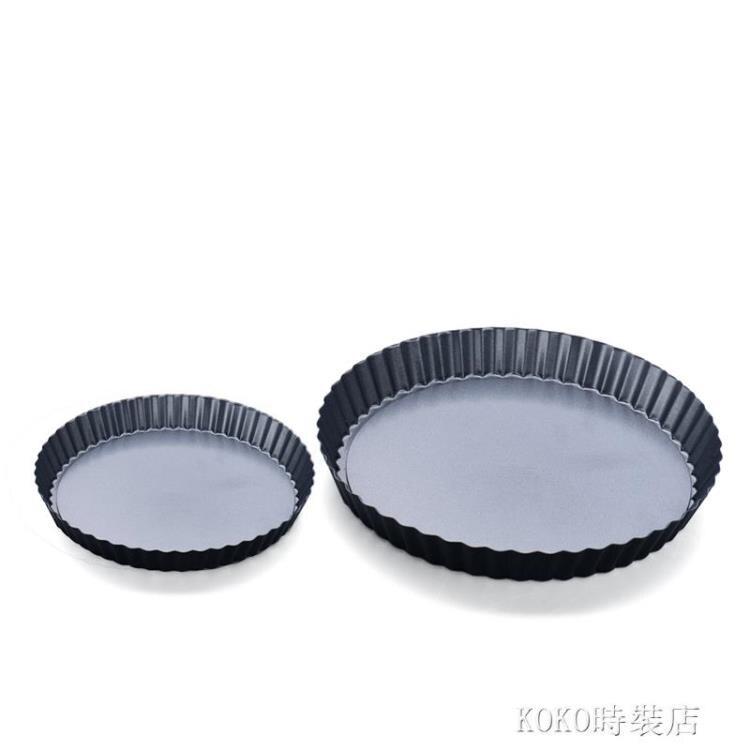 【展藝圓形活底派盤】 菊花派盤披薩烤盤 不沾烘焙模具4/6/7/8寸 ATF