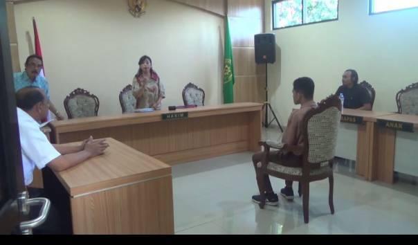 Sidang Kasus ZA di Pengadilan Negeri (PN) Kepanjen, Kabupaten Malang ((Sumber: Kompas TV/Tiawan))