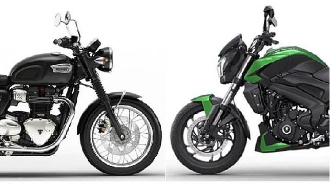 Ilustrasi kerjasama Bajaj dan Triumph. Sumber: autocarindia.com
