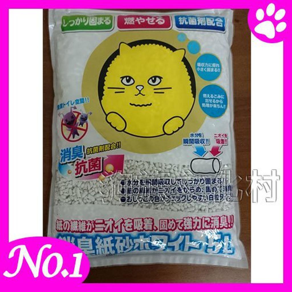 -韋民日本Super cat 超級大頭貓消臭變色紙砂5L 環保型貓砂
