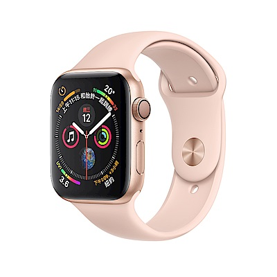 Apple Watch Series 4 GPS 44mm 金色鋁金屬錶殼粉沙色運動型錶帶