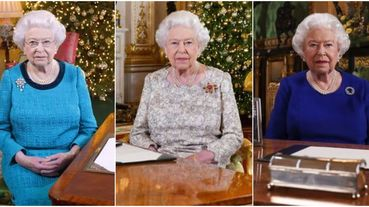 伊莉莎白二世是七彩色票!盤點英國女王「聖誕致詞」10年間的服飾
