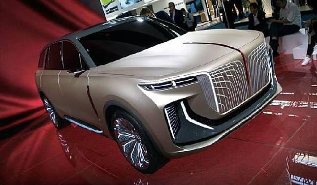 Hongqi memamerkan produknya di Frankfurt Motor Show. Sumber: autocar
