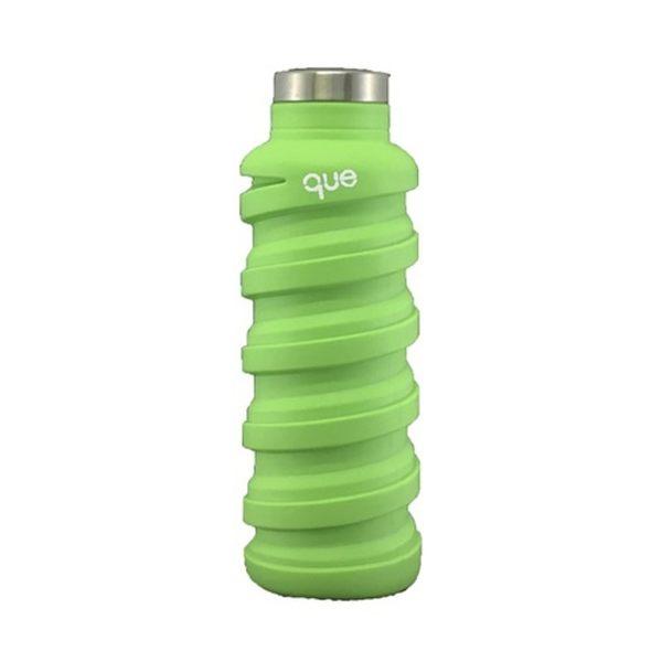 美國 que 環保伸縮水瓶/螢光綠/600ml