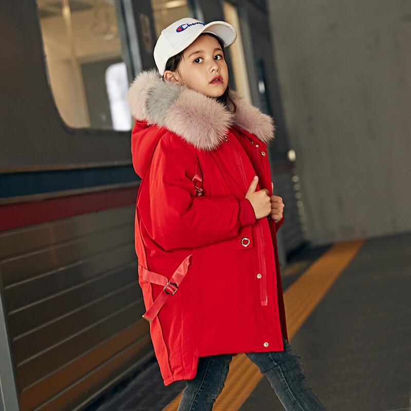 品牌淘迷魚 圖案純色 風格韓版 填充物白鴨絨 含絨量90% 顏色紅色黑色深藍色米色 尺碼90cm100cm110cm120cm130cm140cm150cm160cm