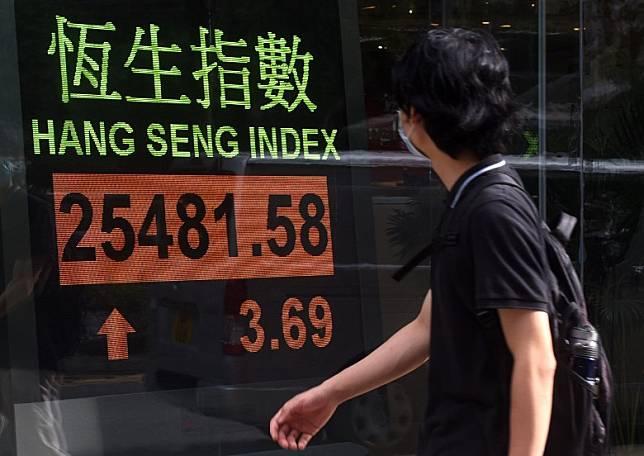 港股總成交額約1,644億元。(中新社圖片)