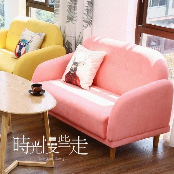 奶茶店甜品蛋糕店簡約咖啡廳桌椅組合辦公接待室洽談卡座雙人沙發ATF